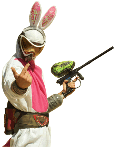 le défi du lapin au paintball